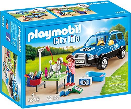 PLAYMOBIL City Life Coche Lavandería de Perros, A partir de 4 años (9278)