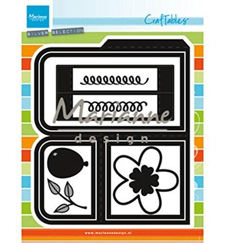 Marianne Design Craftables Card Box Die, Metaal, Grijs, 22,1 x 16,9 x 0,2 cm