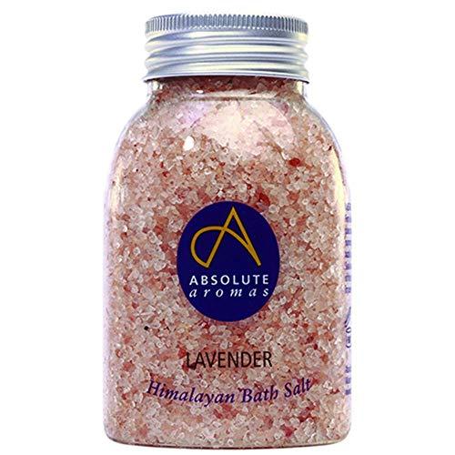 Absolute Aromas Lavendel Badesalz 290g - Rosa Himalaya-Salz mit 100% reinem ätherischen Lavendelöl