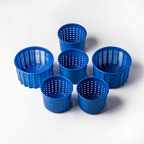 Cheese making Set Cheese molds 0.55-1.32 lbs Blue Original HOZPROM Cheese making mold Goat cheese Feta Soft cheese Cheese press Rennet Cheese making kit Cow Basket mold Hard cheese Molde para queso