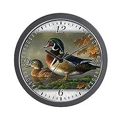 Wall Clock Wood Ducks
