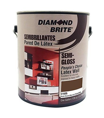 Diamond Brite Paint 51600 Pintura de látex brillante y rica, color marrón holandés