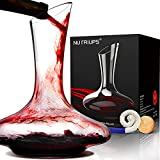 Weindekanter Dekanter Rotwein Weinkaraffe Wein Dekantierer & Korkverschluss Wein Dekanter Red Wine Decanter Handgemacht Weinkaraffen 1.8L Bleifreie Karaffe Rotwein Dekanter