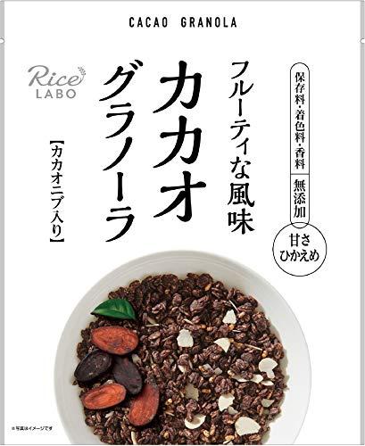 幸福米穀 粗びきカカオグラノーラ 200g×3袋