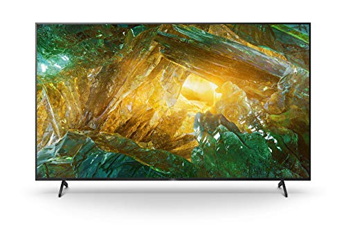 Sony KD-85XH8096 Bravia 215 cm (85 Zoll) Fernseher (Android TV, LED, 4K Ultra HD (UHD), High Dynamic Range (HDR), Smart TV, Sprachfernbedienung, 2020 Modell) Schwarz