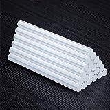 Palos de pegamento caliente, 10/50 Piezas de adhesivo termofusible transparente 11 mm 7 mm de silicona barra de pegamento de alta viscosidad Reforzar pegajosidad para pistola de pegamento caliente