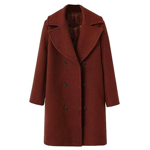 NEEDRA Trench Coat Ladies Teenage Girls Warm Winter Coat Outwear Women  Button Jacket Boucle Coat e9bfe8fee9