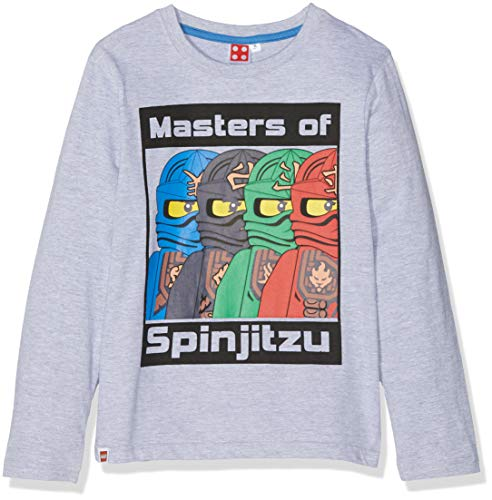 LEGO NINJAGO Jungen T-Shirt 2173, Grau (Gris Gris), 8 Jahre (Herstellergröße :128)