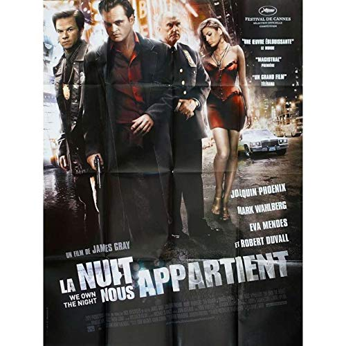 LA NUIT NOUS APPARTIENT Affiche de film - 120x160 cm. - 2007 - Joaquin Phoenix, Mark Wahlberg, James Gray