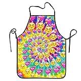 Delantal de rotación del Alma Gemela del corazón de los emoticonos Delantales Divertidos del Babero para los Hombres Mujeres Delantal de Cocina para Hornear de Cocina