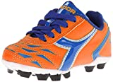 Diadora Capitano MD JR Soccer Cleat (Infant/Toddler/Little Kid/Big Kid), Orange/Blue, 9 M US Toddler