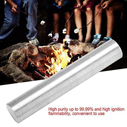 Magnesium Rod, Magnesium Metal Rod Mg Element Bar High Purity 99.99% Survival Accessory Emergency Starters Emergency Fire pour Camping Randonnée(18mm*100mm)