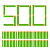 EKIND 500 Pcs Waffles Darts Compatible for Nerf Elite AccuStrike Series Blasters Toy Gun(Green)
