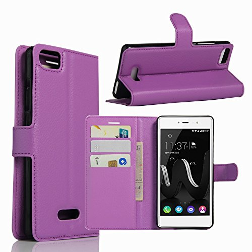 Tasche für Wiko Fever Special Edition Hülle, Ycloud PU Ledertasche Flip Cover Wallet Hülle Handyhülle mit Stand Function Credit Card Slots Bookstyle Purse Design lila