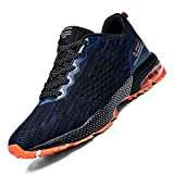 Huacud Mens Running Shoes Trail Sneakers Air Cushion Non Slip Tennis Sports Casual Walking Athletic for Basketball Blue,10