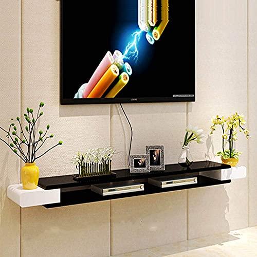 フローティングシェルフ壁掛けテレビキャビネット壁掛けDVD/ブルーレイプレーヤー背景スタンド衛星テレビボックスケーブルボックス壁掛けテレビキャビネットドア付きフラットスクリーン用