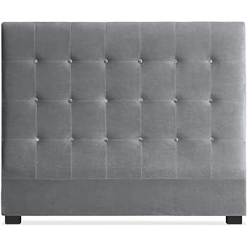Small 1 place Velours 79,4 cm Silver Elegant Beds T/ête de lit en velours avec diamants de grande qualit/é hauteur 51/cm