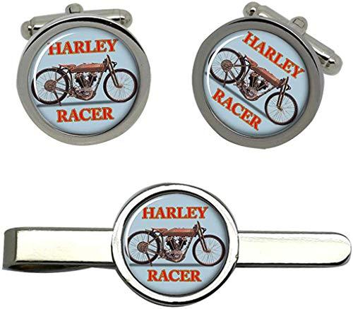Giftshop UK Harley Racer Motorrad Manschettenknöpfe und Krawatte Clip Set