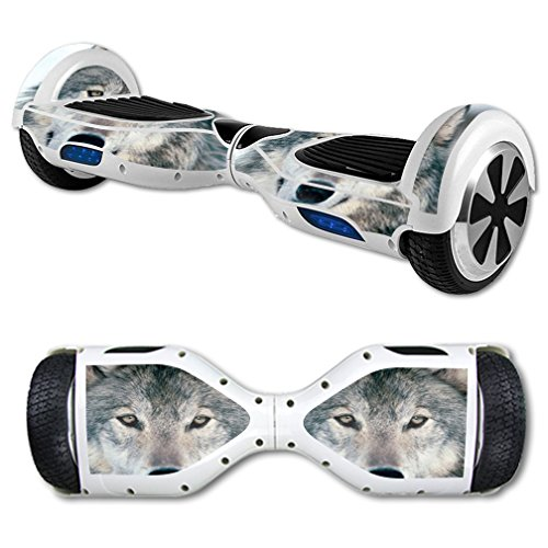 MightySkins Skin Compatible with Hover Board Self Balancing Scooter Mini 2 Wheel x1 Razor wrap Cover Sticker Wolf
