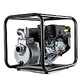 GREENCUT GWP200X - Motobomba de agua de gasolina 208cc y 7cv con caudal maximo de 30000l/h, aspiracion a 7m y altura de bombeo 23m