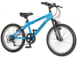 Schwinn child specific geometry helps achieve a COMFORTABLE fit, offering CONTROL and STABILITY for young riders 20 inch wheels with 1.95 inch wide MULTI-SURFACE tyres for on and off road use 6 speed grip shift style gears for EASE of shifting Elemen...