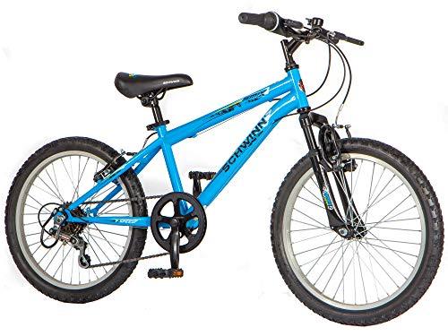 Schwinn Remix 20' Wheel Smartstart Boys Front Suspension Bike, 6 Speed, Blue with Funky Design (Age 5 to 8 years)
