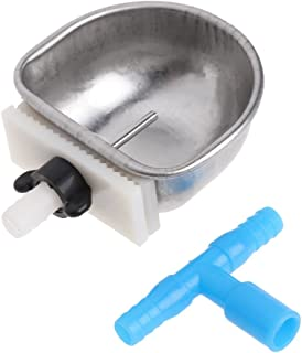 Lovhop Rabbit Water Feeder Automatic Drinker Fix Bowl T Joint Equipment Stainless Steel 1PC