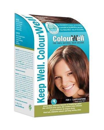 Colourwell 100% Natuurlijke Haarkleuring kastanje, 100g, Bruin