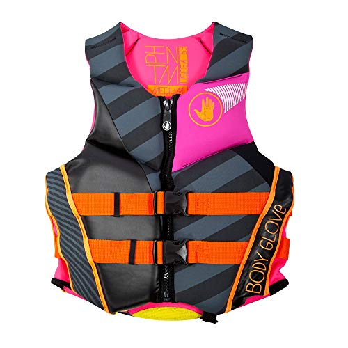 Body Glove Women's Phantom Neoprene Life Jacket, Oversize Arm Holes, Lumbar Protection, Foam Flotation, Front Zippered Opening, Concealed Buckle Straps with Quick Release Buckles, U.S. Coast Guard Approved PFD – 16224W