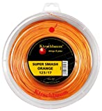 Kirschbaum Super Smash Bobine Cordage de Tennis Mixte Adulte, Orange, 1,28 mm x 200 m