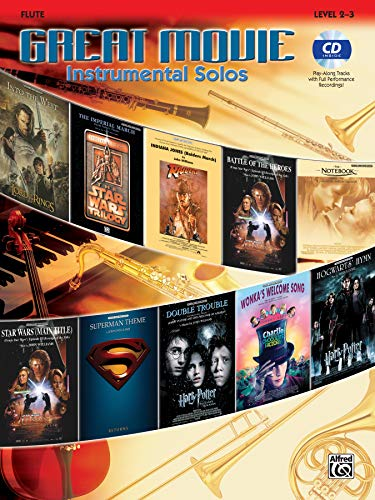 Great Movie Instrumental Solos - Flute (Book & CD)