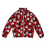 Disney Minnie Mouse Red Lightweight Puffy Jacket for Girls, Size 7/8