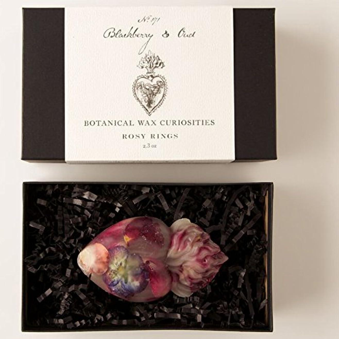 一掃するモッキンバード彼はロージーリングス ボタニスト ボタニカルワックスキュリオシティ ブラックベリーウード ROSY RINGS Botanist Collection Botanical Wax Blackberry & Oud