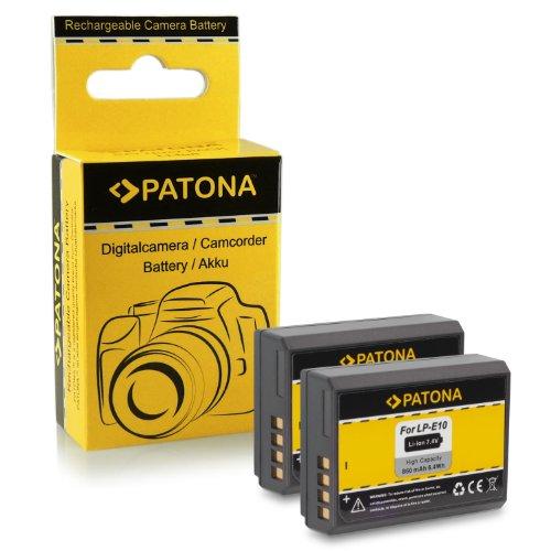 2x Batería LP-E10 para Canon EOS 1100D / EOS Rebel T3
