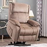 Harper&Bright Designs Power Lift Chair Soft Fabric Recliner Living Room Sofa Chair