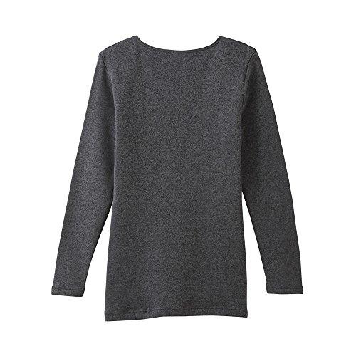 [グンゼ]インナーシャツホットマジック寒さ知らず8分袖日本製MH5646レディースブラックモク日本LL(日本サイズ2L相当)