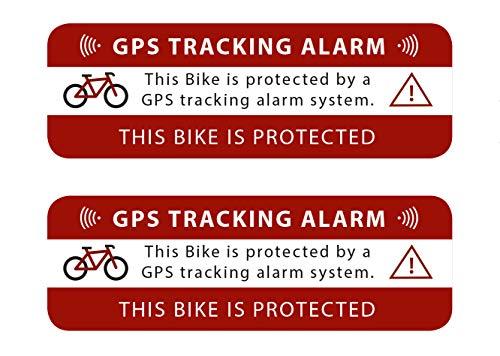GPS-sticker, tracking alarm voor fiets, waarschuwing voor GPS-zekering, buitenklevend voor ramen, auto, motorfiets, vrachtwagen, bouwmachines