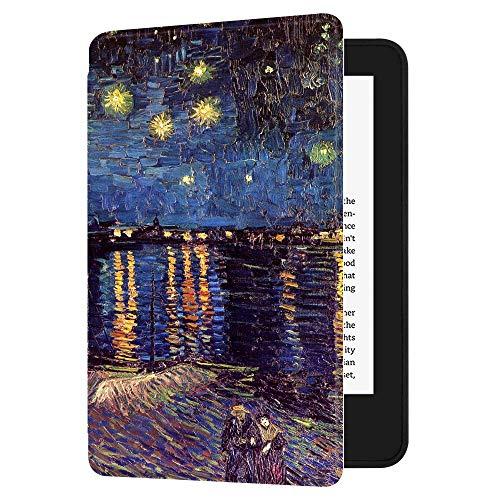 Huasiru Caso di copertura dipinto per il nuovo Kindle (10a generazione - Solo 2019 - non adatta per Kindle Paperwhite o Kindle Oasis) Case Cover, Notte stellata