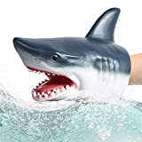 Shark Hand Puppet Toys, Tecesy Shark Puppets Role Play Toy , Soft Rubber Realistic Sea Animal Shark Head 7 inch