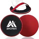 Amonax Gleitscheiben Fitness Doppelseitige Slider-Übung core Fitness Scheibe Gym Gliding