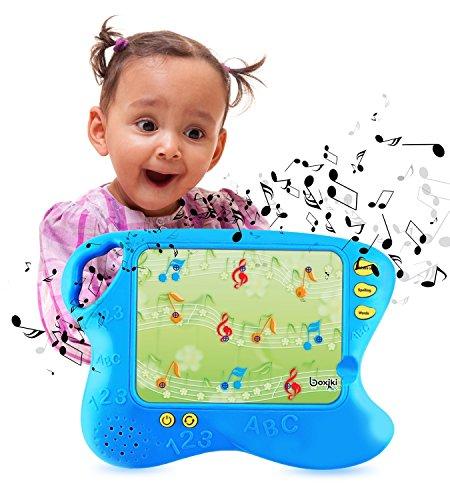 Boxiki kids Englisch Lern-Pad mit 10 Lernkarten, Brettspiel für Kinder mit Touch und Lernfunktionen | Smart Tablet für Kinder mit Lernspielen | Lehrreiches elektronisches Lern-Set