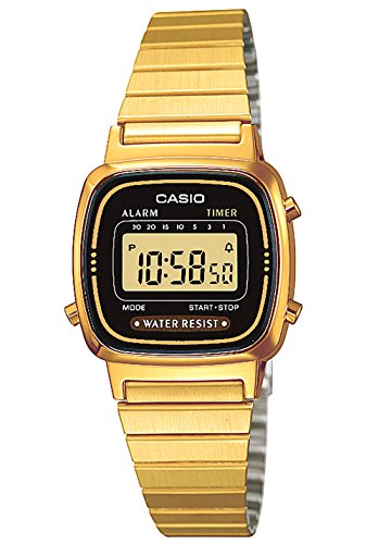 Casio Collection Damen Retro Armbanduhr LA670WEGA-1EF