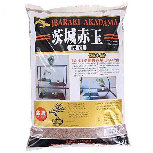 Japan Bonsai-Erde Akadama 1-2 mm Ibaraki hart, Double Line 10 Liter