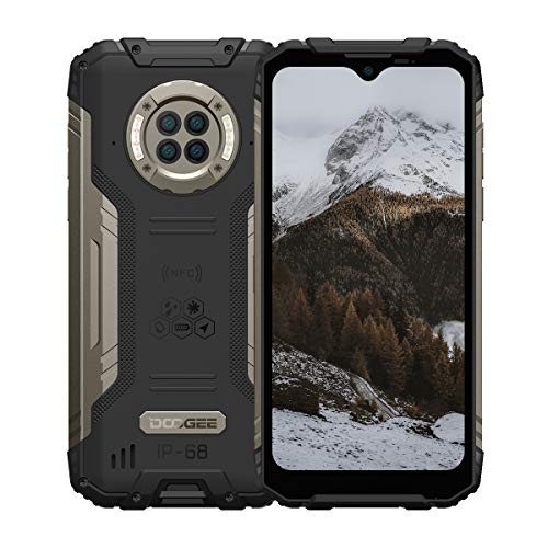 Rugged Phone Unlocked DOOGEE S96 Pro 8GB+128GB Infrared Night Vision Helio G90 Octa Core Waterproof Android Phone, 48MP+20MP, 6.22  + Global 4G LTE GSM AT&T T-Mobile Dual SIM Phone 6350mAh(Black)