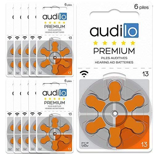 bon comparatif Piles pour prothèses auditives Audilo13 (PR48) Premium |  Prothèses auditives et piles pour prothèses auditives [Zinc… un avis de 2021