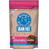 Buddy Biscuits Soft Cat Treats, Chewy Grain & Gluten Free for Kitten, Made in USA, Turkey & Cheddar 3 oz