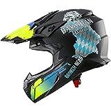 Broken Head Bavarian Patriot - Schwarzer Motorrad-Helm Für MX, Motocross, Sumo, Quad - Mit Bayern...