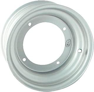 ITP Steel Wheel - 10x5 - 2+3 Offset - 4/110 - Silver , Bolt Pattern: 4/110, Rim Offset: 2+3, Wheel Rim Size: 10x5, Color: Silver, Position: Front 15R411