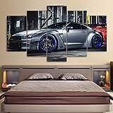 HOMEDCR HD Impreso One Set Car Poster Pinturas sobre Lienzo Arte de la Pared Hogar Sala de Estar Dormitorio 5 Piezas Decoración