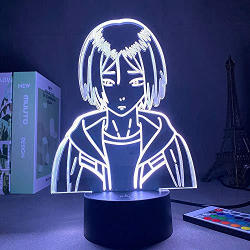 Lámpara de Ilusión 3D Luz de Noche LED Anime Bleach Ulquiorra Cifer Lámpara de Mesa USB Creativa para Decoración de Dormitorio Regalo de Cumpleaños para Niños Niñas
